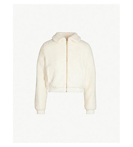 SHRIMPS Hunter faux-shearling jacket (Ntrl crm