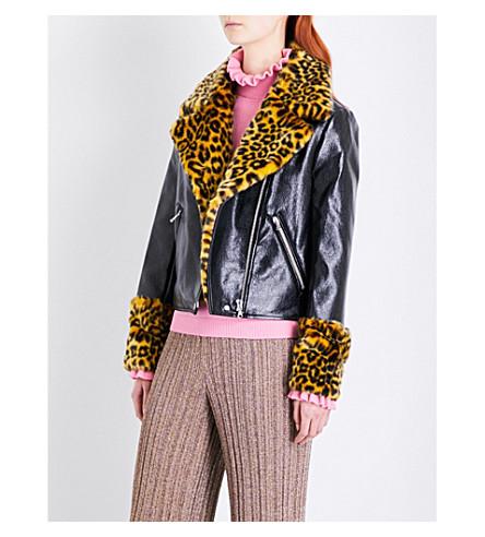 SHRIMPS Maisie faux-leather jacket (Black