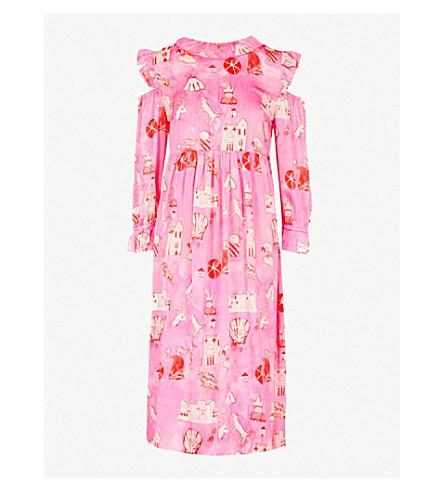 SHRIMPS Nico silk-satin dress (Pink