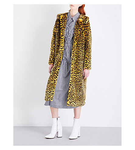 SHRIMPS Patrick faux-fur coat (Yellow