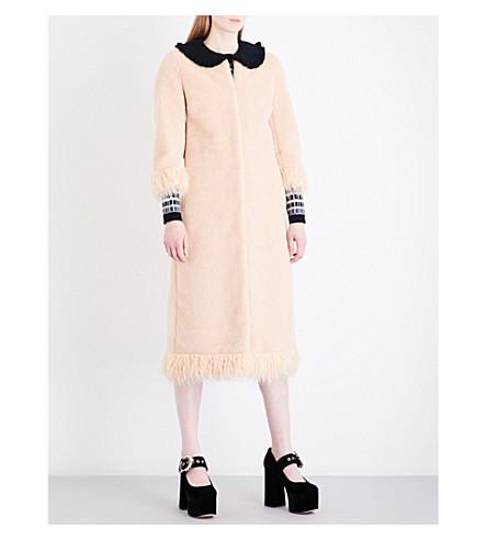SHRIMPS Ramsey faux-shearling coat (Shell+pink