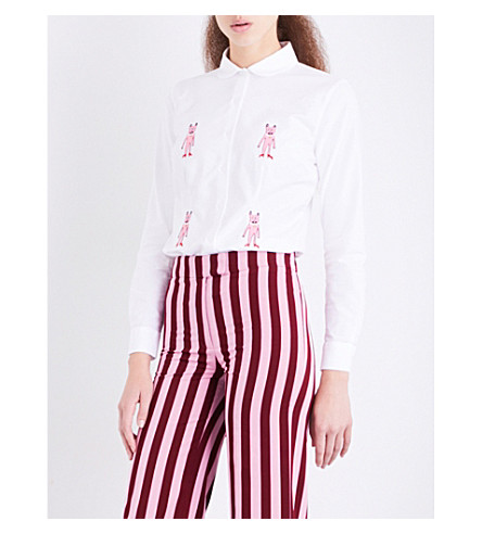 SHRIMPS Sally embroidered cotton shirt (Mr+pink+x+4