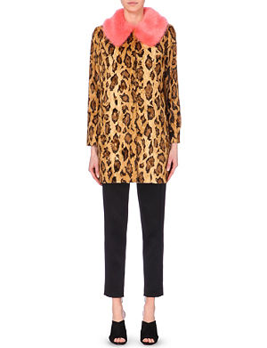 SHRIMPS Jaguar faux-fur coat