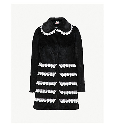 SHRIMPS Sol faux-fur coat (Black