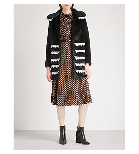 SHRIMPS Sol faux-fur coat (Black
