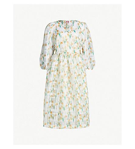 SHRIMPS Titania organza dress (White daff