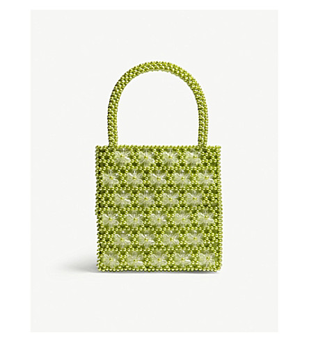 SHRIMPS S acc venezia bead bag (Lime+green