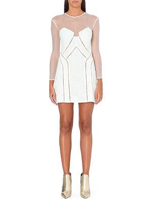 SELF-PORTRAIT White Night lace-panel dress