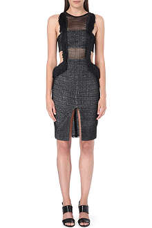 SELF-PORTRAIT Fringed Formation mesh dress