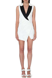 SELF-PORTRAIT Mesh tuxedo dress