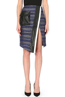 SELF-PORTRAIT Utility A-line jacquard skirt