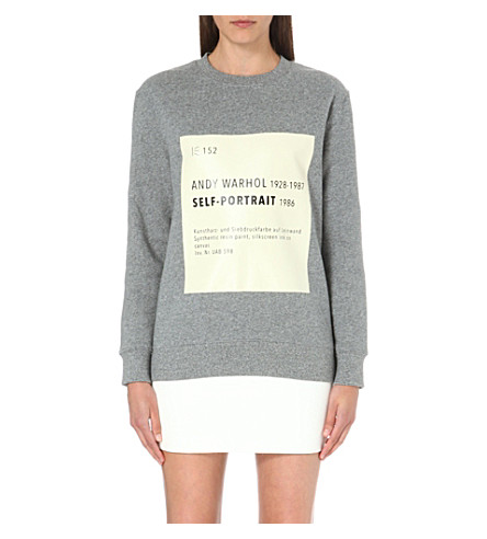 SELF-PORTRAIT Signature sweatshirt (Grey
