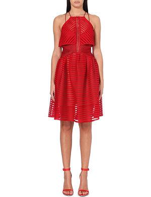 SELF-PORTRAIT Cropped overlay dress