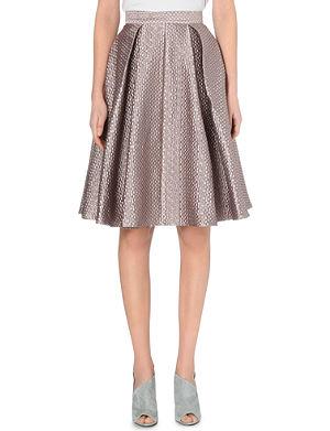 SELF-PORTRAIT Sculpted jacquard skirt