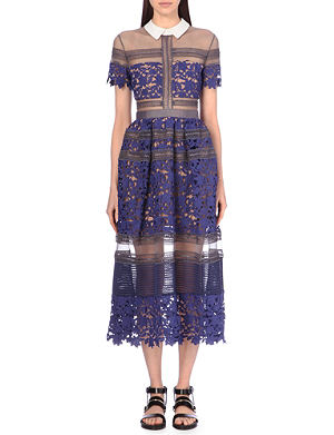 SELF-PORTRAIT Liliana embroidered dress