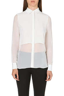 JONATHAN SIMKHAI Sheer-panel silk shirt