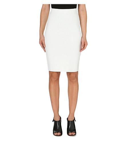 JONATHAN SIMKHAI Stretch-knit pencil skirt (White