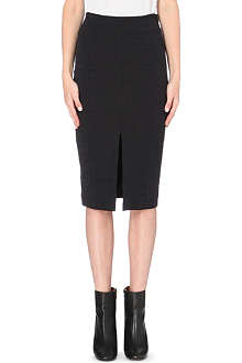 JONATHAN SIMKHAI Croc-embossed pencil skirt