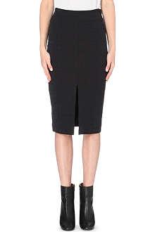 JONATHAN SIMKHAI Croc-embossed pencil skirt
