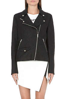 JONATHAN SIMKHAI Wool-blend biker jacket