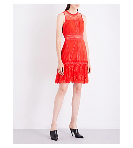 JONATHAN SIMKHAI Geometric lace dress (Red