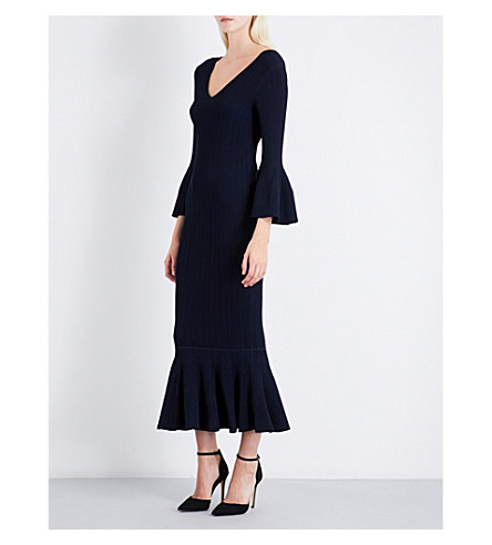 JONATHAN SIMKHAI Flared woven dress (Midnight