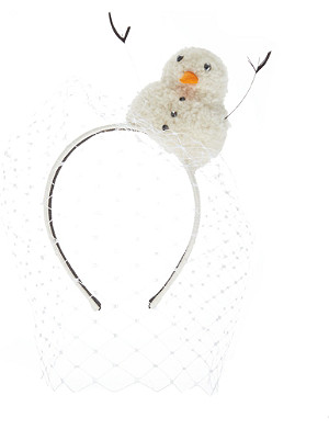 PIERS ATKINSON Snowman veiled headband