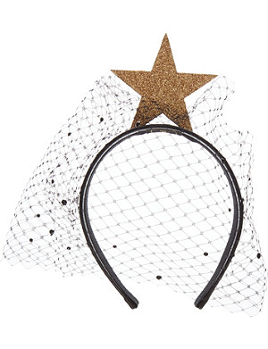 PIERS ATKINSON Star veil headband