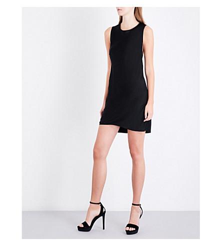 VERSUS VERSACE Twisted racerback sleeveless satin mini dress (Black