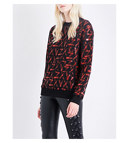 ... Versus x Zayn ZXV-print cotton-jersey sweatshirt (Red+on. PreviousNext