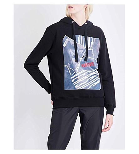 VERSUS VERSACE Versus x Zayn cotton-jersey hoody (Black