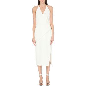 Folded woven dress