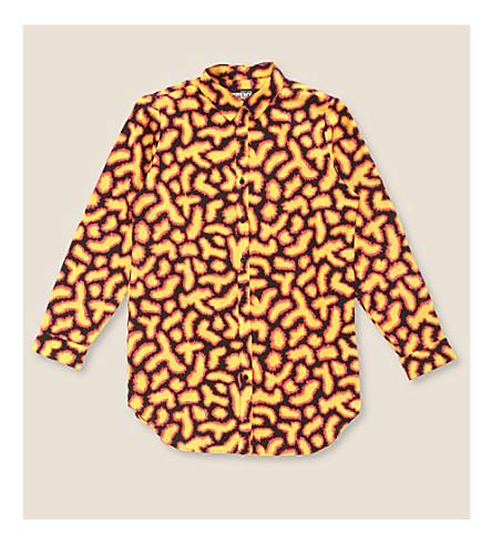 JEREMY SCOTT Abstract-print jersey shirt (Fuzzy black