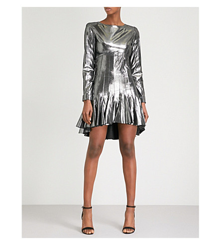 MORV Debbie metallic leather dress (Gunmetal