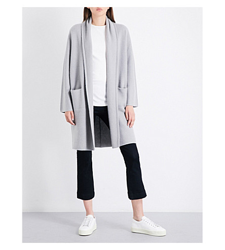 VINCE Long cashmere cardigan (Cement