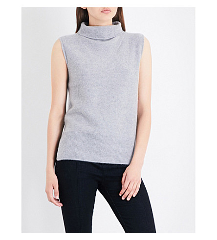 VINCE Turtleneck cashmere top (Med+grey