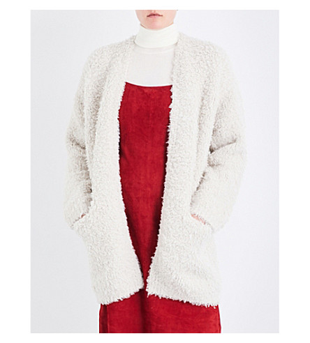 VINCE Textured-knit wool and cashmere-blend cardigan (Chalet