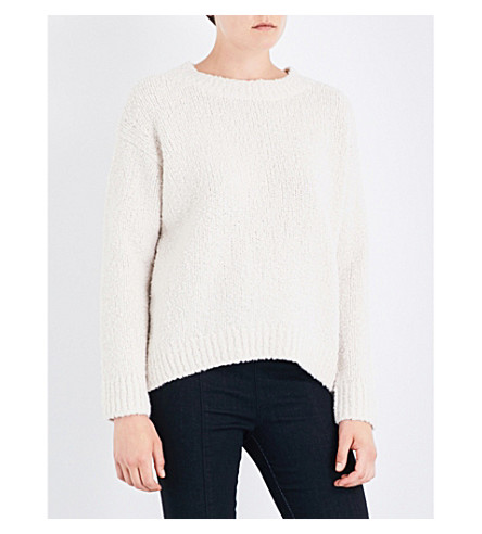 VINCE Textured-knit wool jumper (Off+white