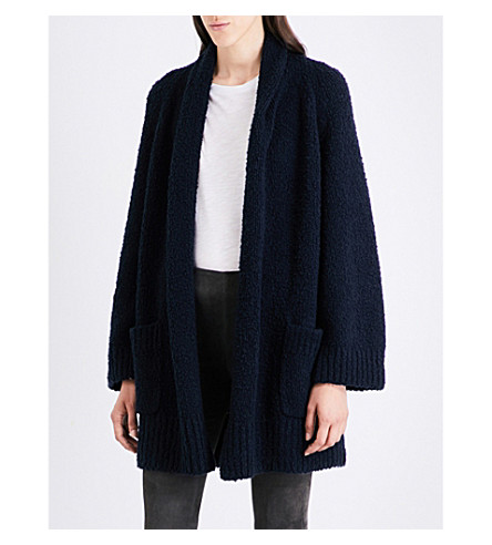 VINCE Oversized wool cardigan (Coastal+blue