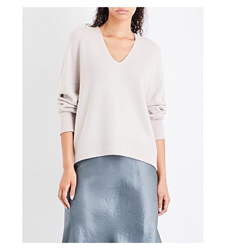 VINCE V-neck slouchy cashmere jumper (Linen