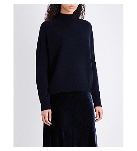 VINCE Ribbed turtleneck cashmere jumper (Coastal