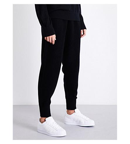 VINCE Dropped-crotch cashmere-blend jogging bottoms (Black