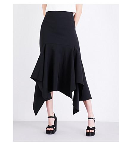 SOLACE LONDON Theon crepe midi skirt (Black