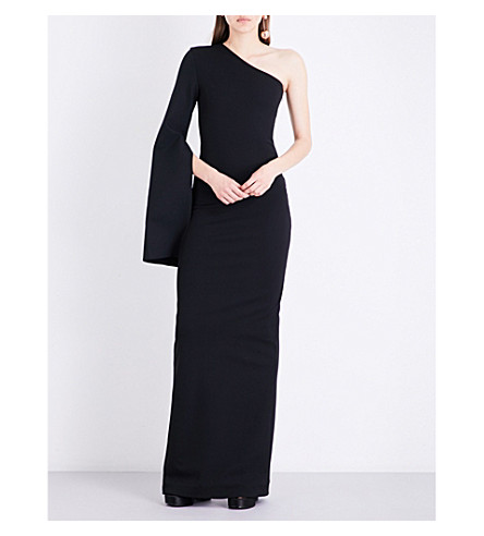 SOLACE LONDON Yasbel stretch-crepe gown (Black