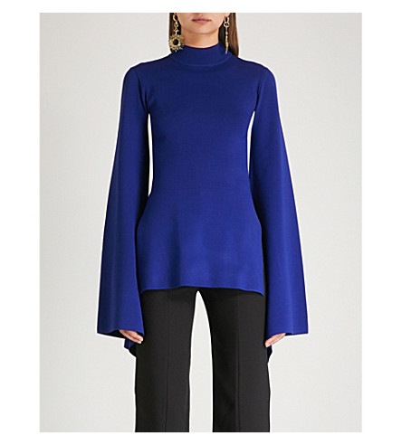 SOLACE LONDON Adelia knitted top (Blue