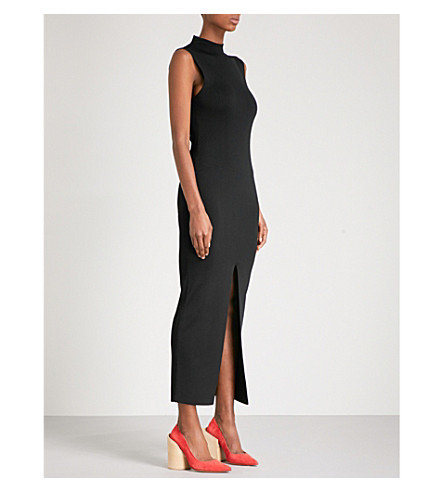 SOLACE LONDON Anelle sleeveless knitted dress (Black