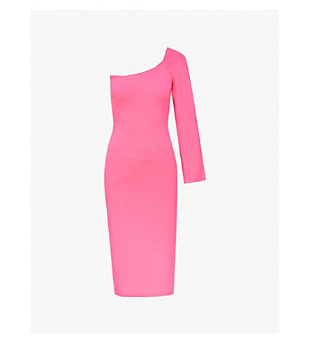 SOLACE LONDON Fiorella stretch-knit dress (Hot+pink