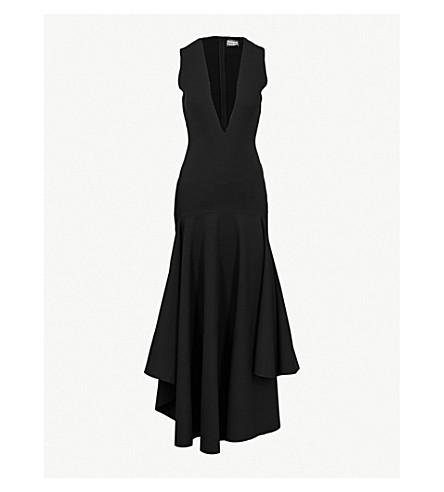 SOLACE LONDON Santana woven midi dress (Black