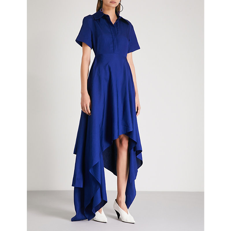 Mia fit-and-flare woven midi dress