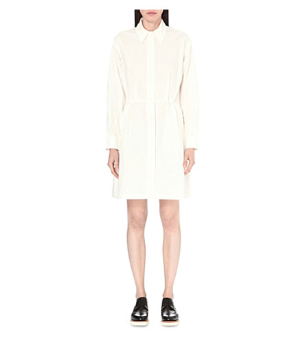 EDIT Double-layer cotton dress (White